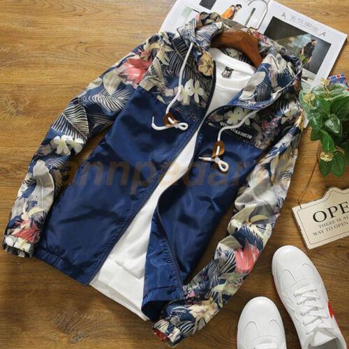Hommes Mode Sweat Veste Tops Casual manteau outwear Slim Stand col vestes