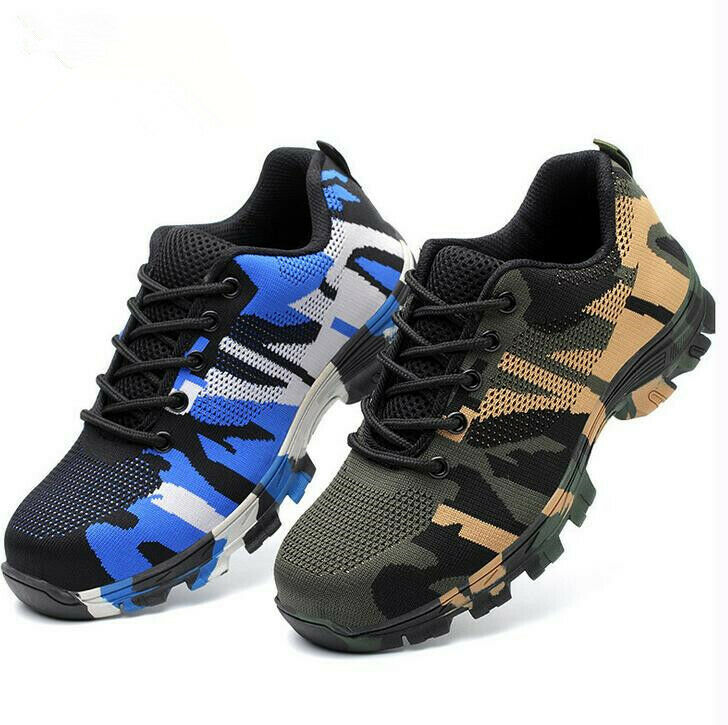 Mens Safety shoes Steel Toe Work Boots Breathable Hiking Climbing Sport Trainers