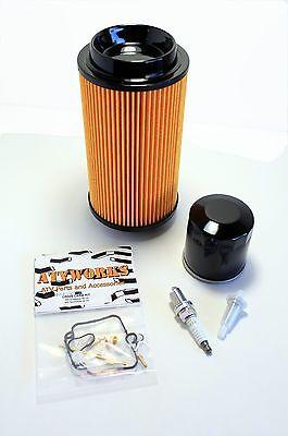 Carb Air Oil Fuel Filter Spark Plug Kawasaki ATV Four Wheeler Tune-up Kit