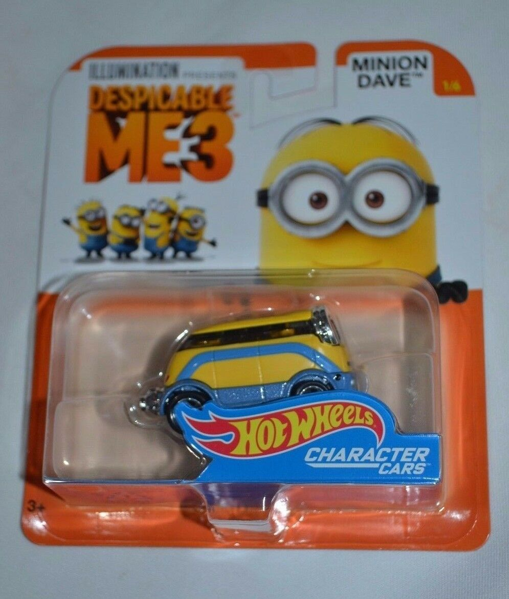 2016 Hot Wheels Despicable Me 3 Character Cars Cars Character Minion