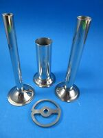 3) Sausage Stuffing Tubes And Plate For Chefs Choice Meat Grinder For Kitchenaid