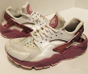 timeless design 4e098 74ada Image is loading Nike-Air-Huarache-Run-SE-White-Elemental-Pink-