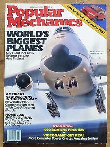 Popular-Mechanics-Magazine-February-1990-World-039-s-Biggest-Planes-Boating-1990