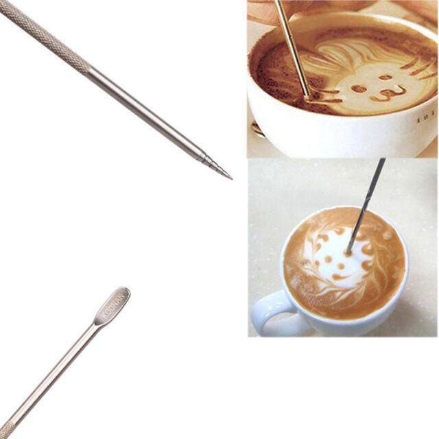 Popular Coffee Latte Stainless Steel Art Pen Tool Espresso Machine Cafe Kitchen