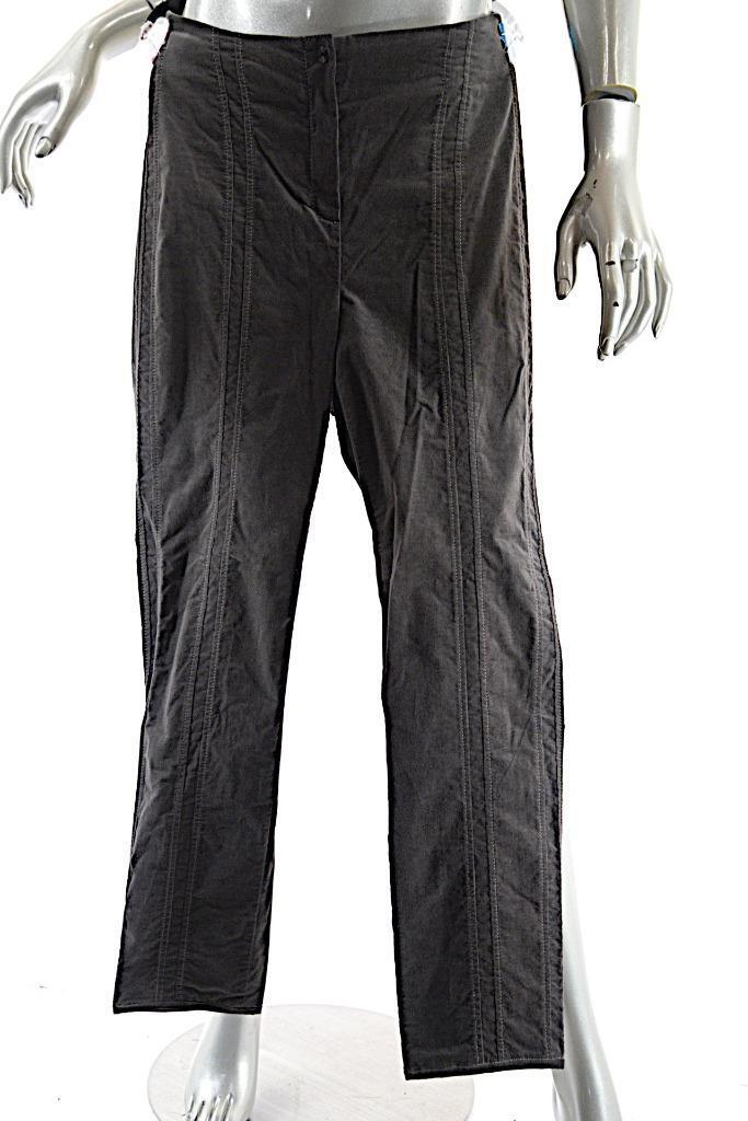 ANNETTE GORTZ Charcoal Cotton Blend very Fine Corduroy Narrow Leg Pant  38 US6 8