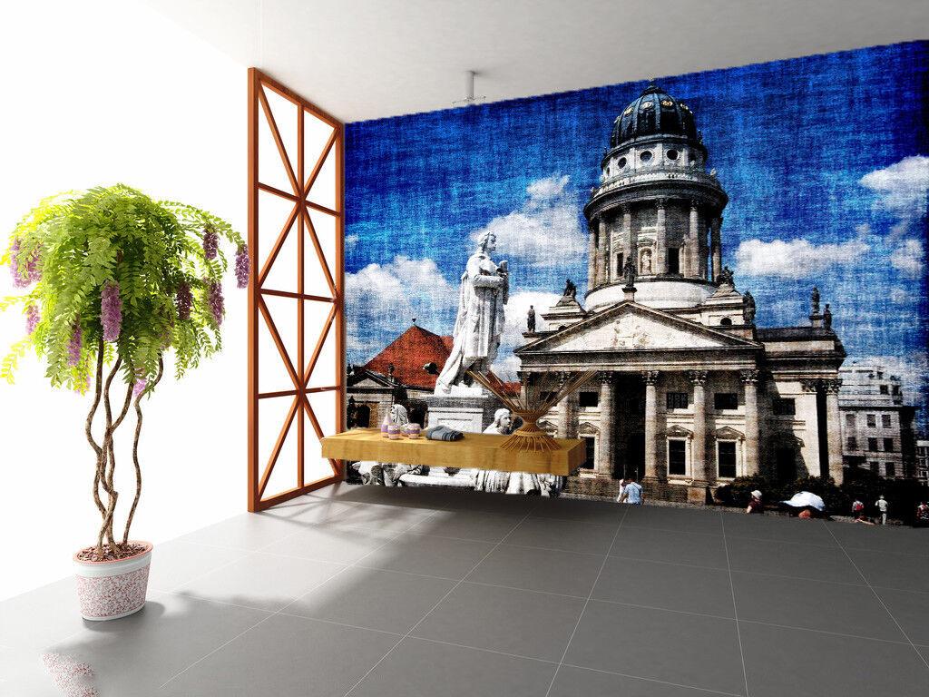 3D Statue Building 552 Wall Paper Wall Print Decal Wall Deco Indoor Mural Lemon