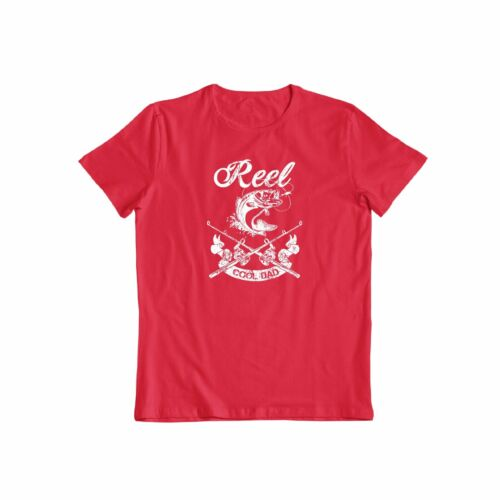 Reel Cool Dad Great father/'s day casual Fishing Tee Funny Men/'s Gift T-shirt