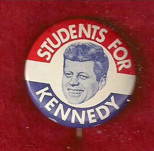 CLASSIC STUDENTS FOR KENNEDY PICTURE CAMPAIGN  PINBACK