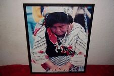 """Mexican Restaurant Furniture Decor Framed Picture Lady Women Cooking Mexico 20"""""""