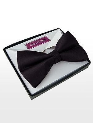 GIFT BOXED BLACK PREMIUIM LUXURY MENS BOW TIE ADJUSTABLE  U.K BRANDED DESIGNER