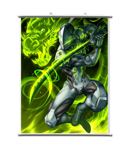 Game OW Overwatch Genji Wall Scroll Poster free shipping(23.6/'/' 31.5/'/')