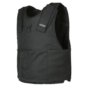 Light-Weight-Concealed-Body-Armor-Bullet-Proof-Black-Vest-L-NIJ-level-IIIA-3A