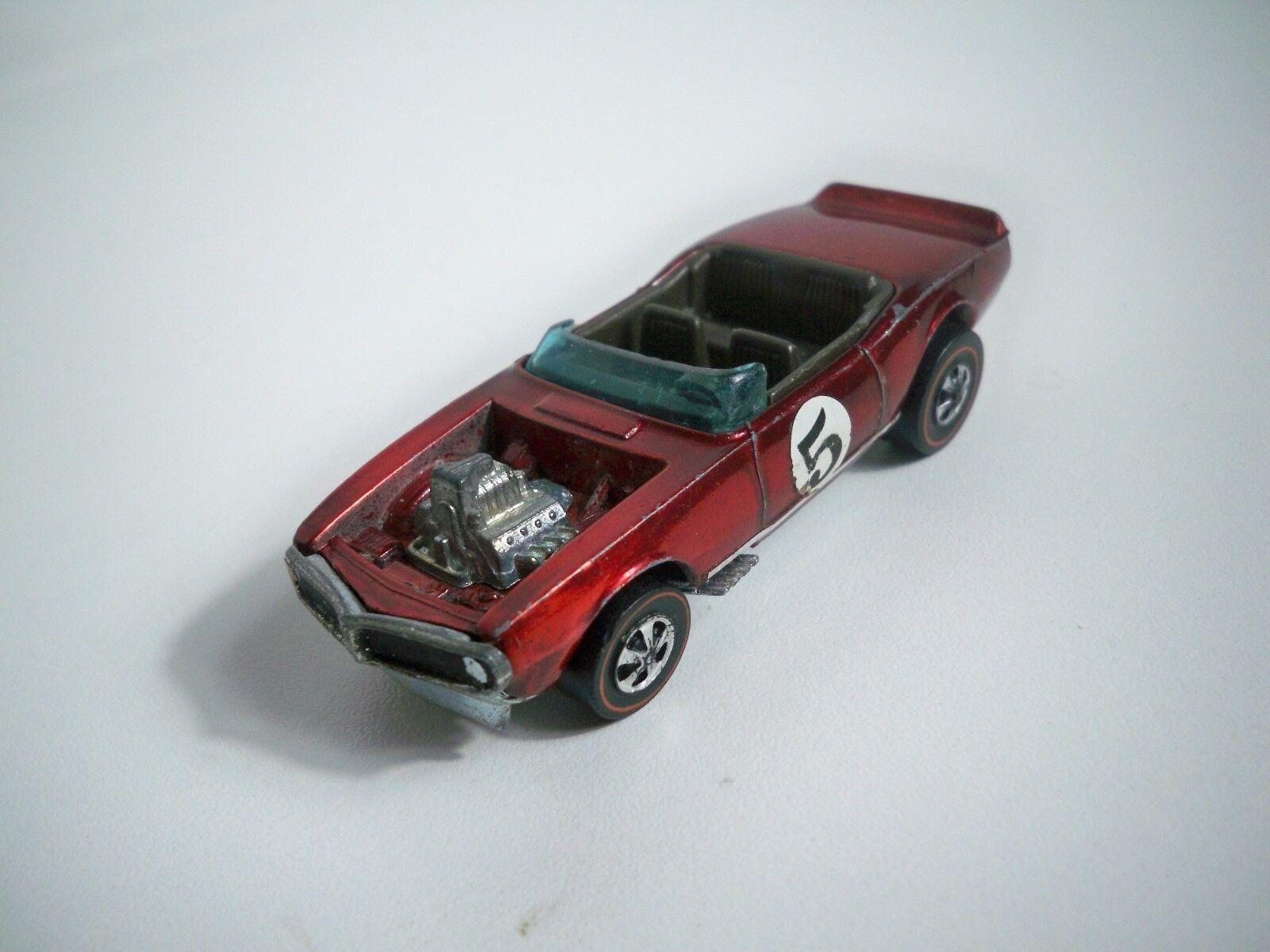 punto de venta K180013 Hot Wheels líneas rojas 1969 luz mi mi mi Firebird Rojo Vintage Original  descuento de ventas en línea