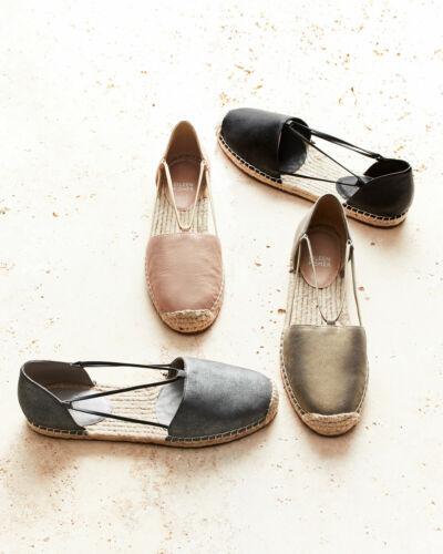 Eileen Fisher Lee Latte Nubuck Espadrilles Size 8