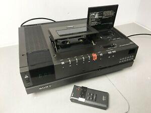 Sony-SL-C7UB-Betamax-Grabadora-de-video-en-Caja-Original-Y-Remoto-hecho-en-Japon