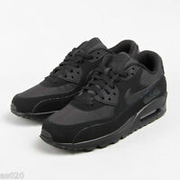 Nike Air Max 90 Essential Mens Running Sports Shoes Trainers - Black - All Sizes