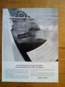 PUBLICITE-ANCIENNE-PUB-ADVERT-Champagne-Perrier-Jouet-dos-chotard