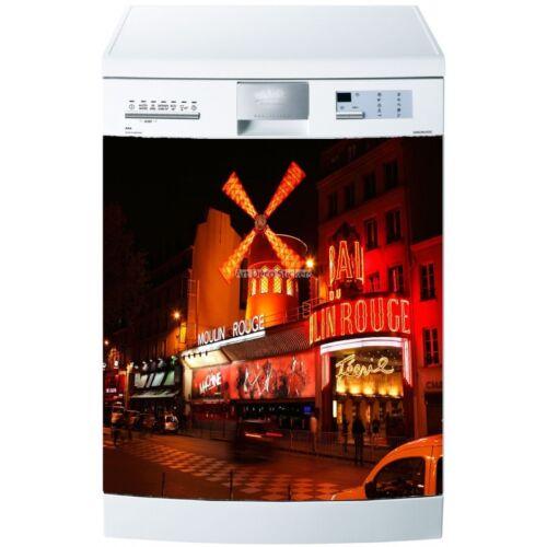 Magnet lave vaisselle Moulin rouge 60x60cm réf 5516 5516