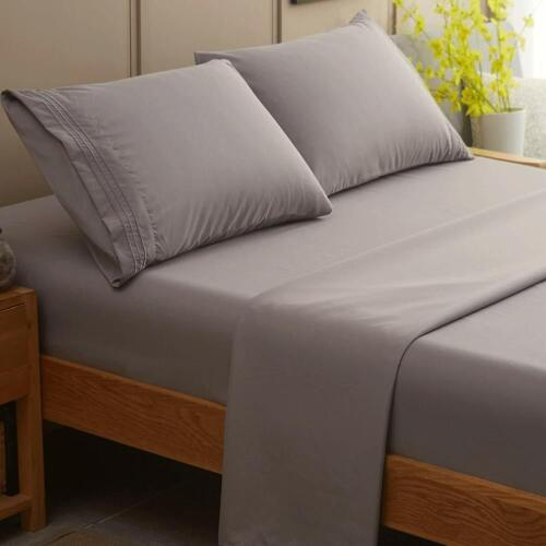 Bed Sheet Set Super Soft Microfiber 1800 Thread Count Luxury Egyptian Sheets Fit