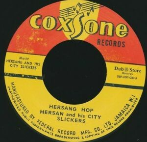 Coxsone-45-Records-Vinyl-7-034-Hersang-Hop-City-Slickers-Workshop-Musician-Calypso