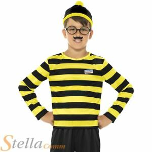 58151fa6cdb Boys Odlaw Where s Wally Costume Adult Fancy Dress Book Week Outfit ...