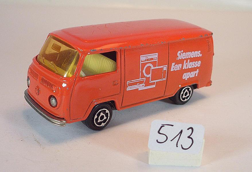 Majorette 1 60 nº 244 VW volkswagen t2 fourgon recuadro siemens nº 1