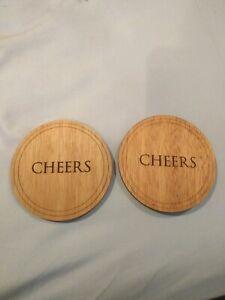 Marlboro Promotion Wood Cheers Coaster Set Of 2 Ebay