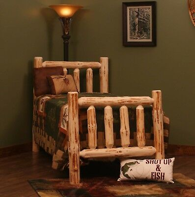 Rustic Pine Log Bed Rustic Log Bed For Cabin Or Home Rustic Decor