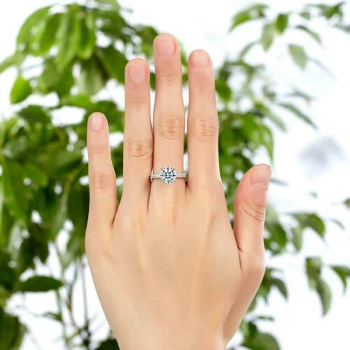 Details about  /Dainty Round Cut Diamond 3ct Beautiful Classic Proposal Ring 14K White Gold Over