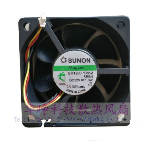 1 pcs Sunon Fan GM1206PTV2-A DC 12 V 1.0 W 6025 6 cm 3 Pin