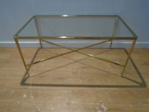 Ashley Glass Coffee Table.Details About Laura Ashley Venezia Coffee Table In Gold 80 Off Qa0902183011