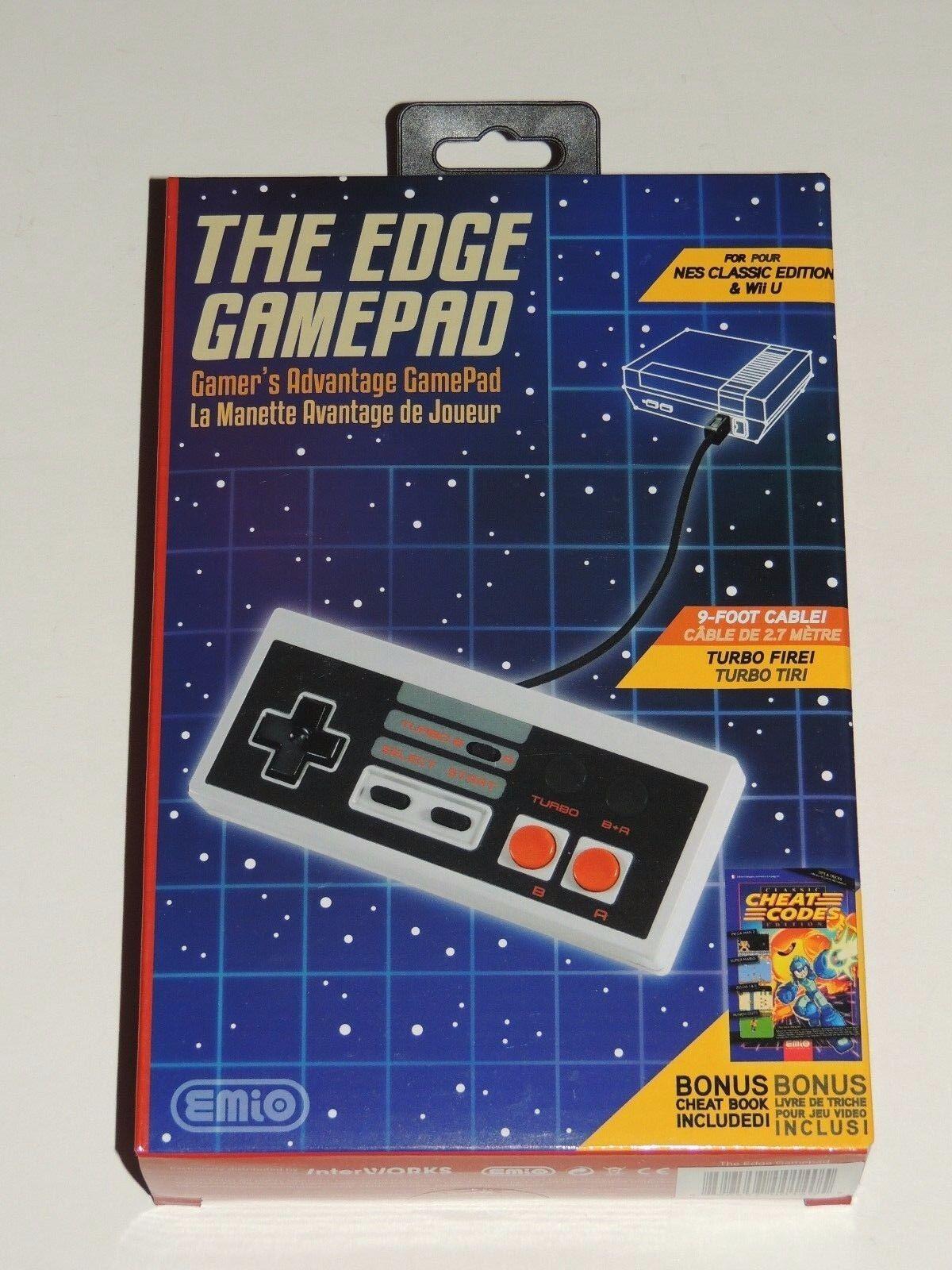 THE EDGE GAMEPAD FOR NES CLASSIC EDITION & WII U CONSOLE *BONUS CHEAT BOOK!*