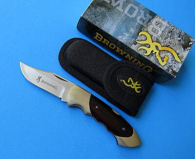 NEW Lockback Point Steel 111 Cocobolo BROWNING Knife Clip Sandvik 12C27 Folding E4qXWwa