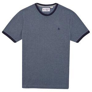 ORIGINAL-PENGUIN-T-SHIRT-BLUE-DENIM-MEN-039-S-CREW-NECK-SHORT-SLEEVE-TOP-TEE-COTTON