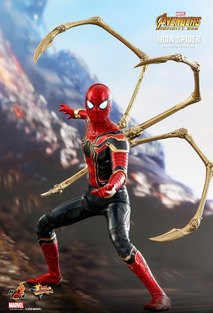 Hot Toys 1/6 Avengers Infinity War MMS482 Iron Spider-Man 12  Action Figure