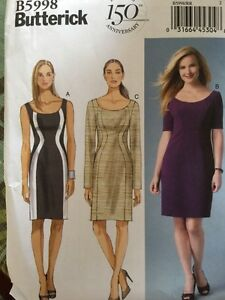 Butterick-Sewing-Pattern-5998-Easy-Ladies-Dresses-Sizes-18-24-150th-Anniversary