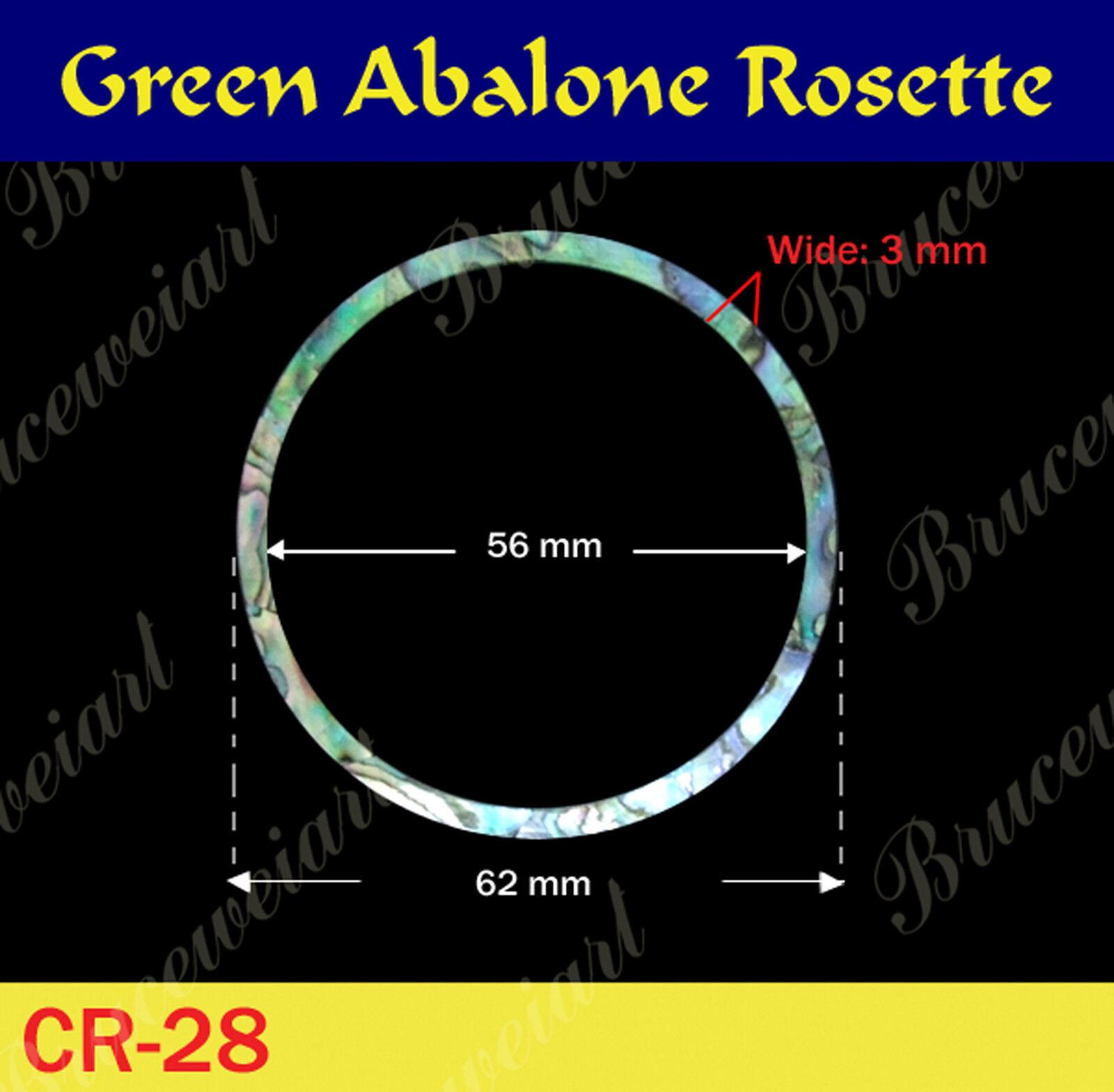 Free Shipping, 5pcs - Green Abalone pinktte   inside= 56mm, W=3 mm (GCR28)