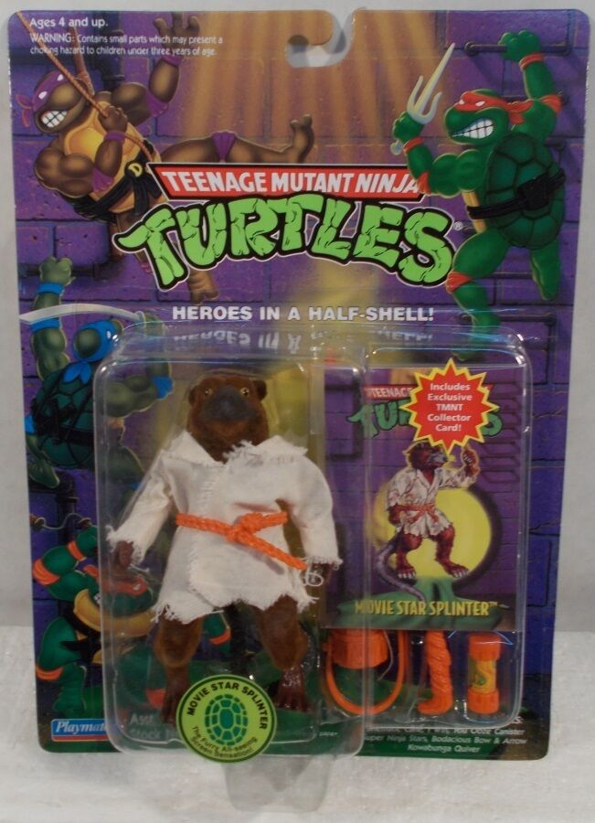 Teenage Mutant Ninja Turtles TMNT 1994 - Reissue Movie Star Splinter With Card