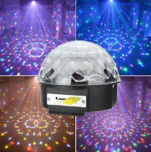 Large Magic Disco Ball Led Light Remote Control Usb Mp3 Player Speaker Party Ebay