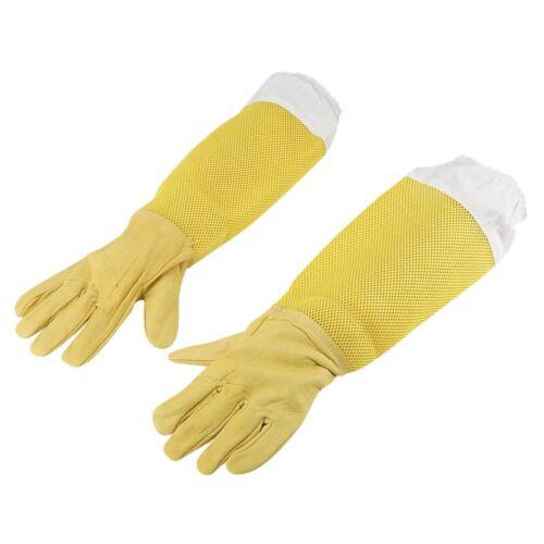 Imker Handschuhe Biene Aus Ziegen Leder Mit Langen Ärmeln Aus Belüftetem Im J1Z8