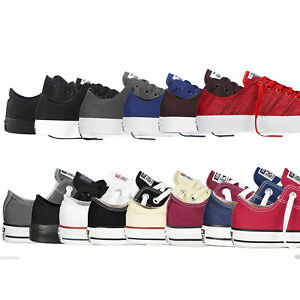 Converse-Chuck-Taylor-All-Star-Colores-Clasicos-Bajo-Tops-Unisex-Lienzo-tenis