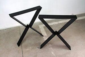 Tisch Industrial tischbeine tischgestell tischkufen tischfüße stahl schwarz