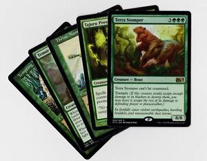 15X DIFFERENT Random GREEN Rare Cards MTG Magic the Gathering Lot Collection Set Partijen kaarten Magic: The Gathering, MTG)