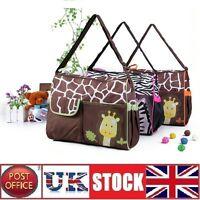 Giraffe Baby Nappy Changing Bag Set Mummy Shoulder Handbag Diaper Bag Set