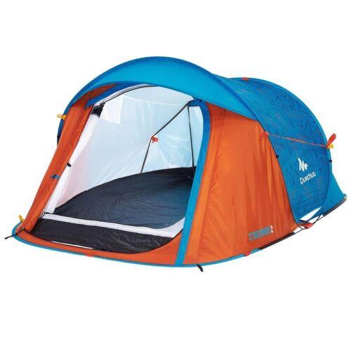 Quechua 2 Seconds 2 Person Festival Tents Colour Orange-Blue New £45