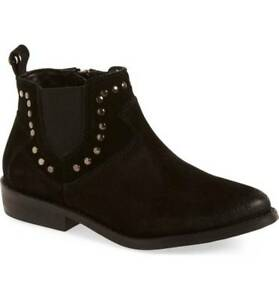 24c4acc5f18d Treasure   Bond Kids Girls Black Studded Ankle Leather Boots Booties ...
