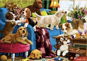 "Puzzle 2000 pieces 92*68 cm. ""PLAYFUL PUPPIES"" Red Cat Ф2000-3699"