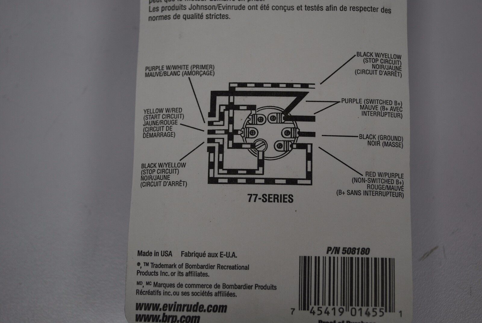 Wiring Diagram Johnson 508180 Basic Outboard Boat Diagrams Omc 77 Series Ignition Switch Ebay Rh Com Motor Color