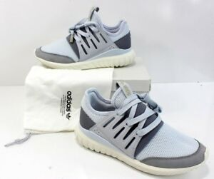 0356a6d1cbdb Adidas Custom MI Tubular Radial Shoe Grey Halo Blue Off White Womens ...