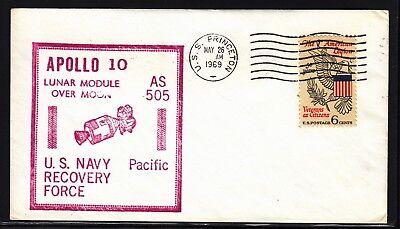 Nett Space Raumfahrt Apollo 10 Bergung Navy Cachet Hbs Uss Princeton Mst 26.05.69 Delikatessen Von Allen Geliebt Briefmarken